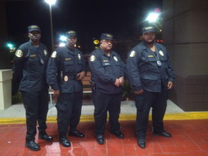 Four of our finest after a successful security task at the Omega Psi Phi Fraternity's annual Mardi Gras in Fayetteville, NC