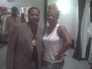 "Posing with Kandi Burruss of ""The Real Housewives of Atlanta"" at her Boutique, TAGS"